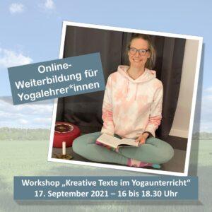 Online-Weiterbildung Kreative Texte im Yogaunterricht am 17.09.2021