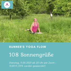 108 Sonnengrüße per Zoom – Yoga für Läufer-innen