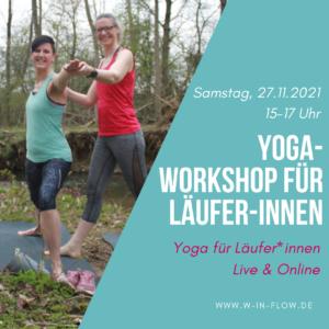Workshop Yoga für Läufer-innen (online) am 27.11.21 – 15 bis 17 Uhr